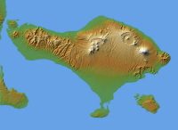 Bali Relief Map